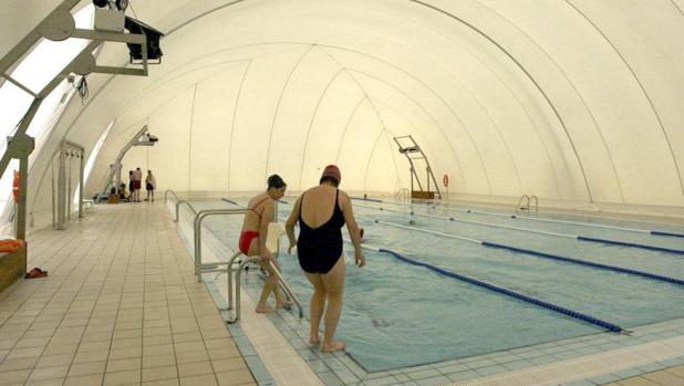 piscina de cuella climatizada con biomasa
